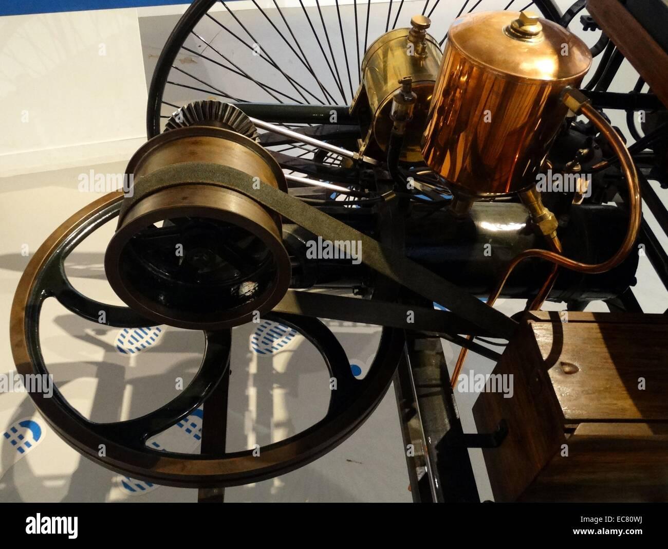 Weltweit erste Motorwagen Stockbild