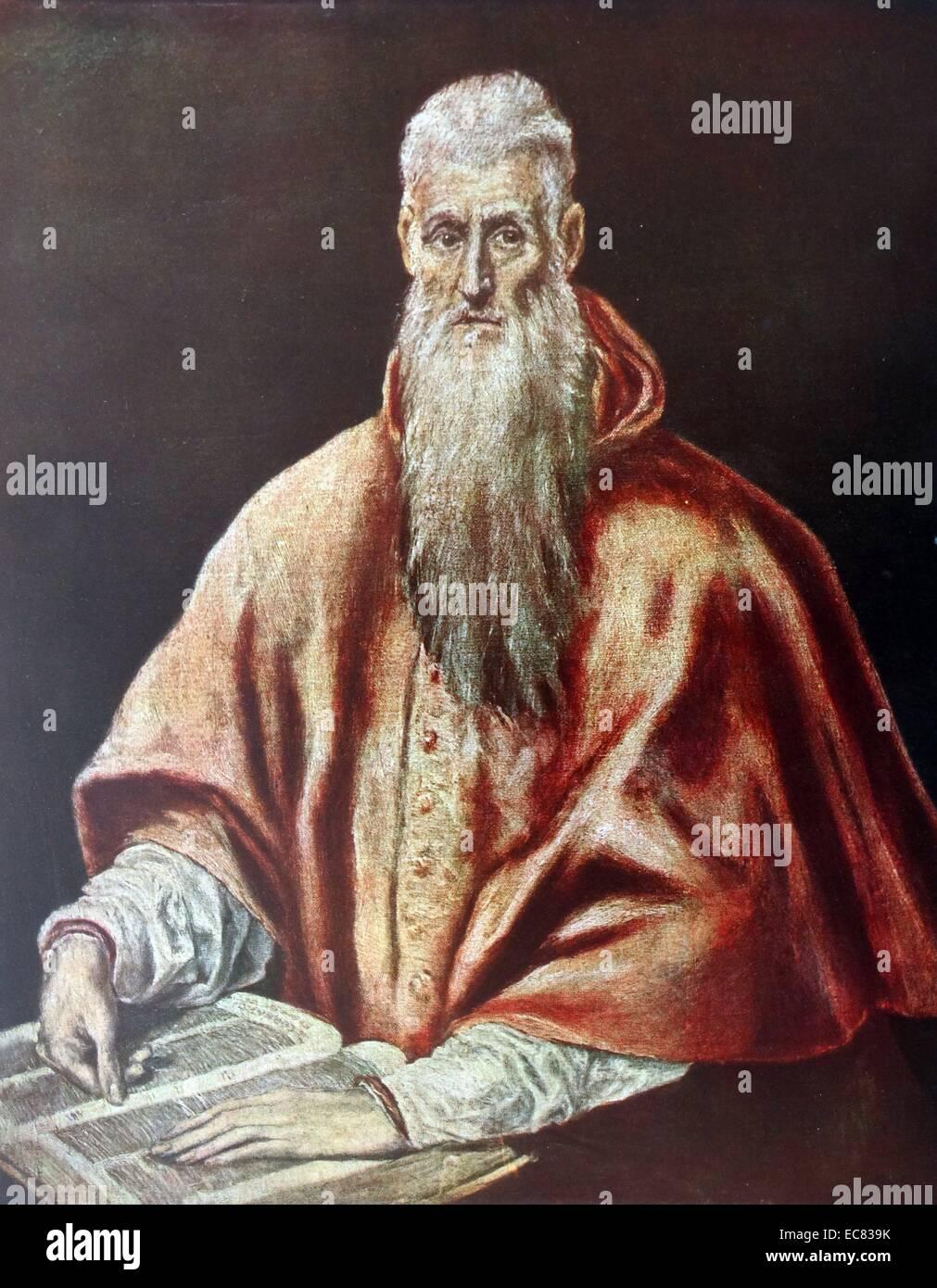 Porträt des Heiligen Hieronymus Stockbild