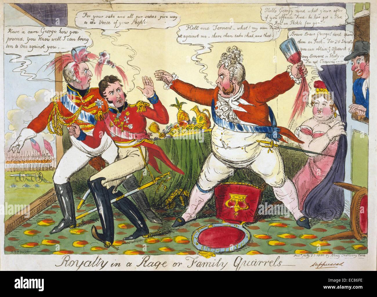 Farbdruck von George IV. Stockbild