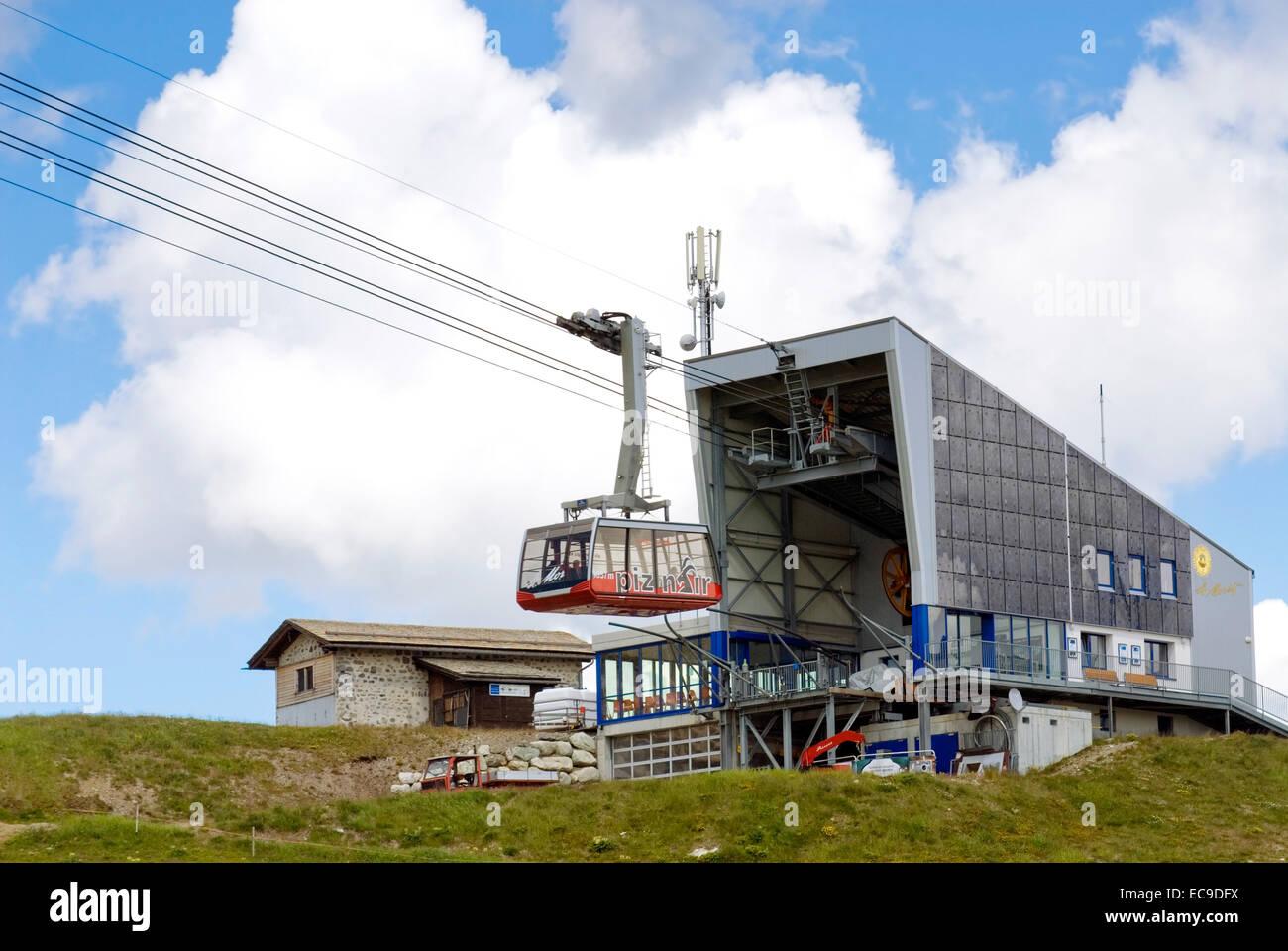 Piz Nair Standseilbahn, St. Moritz, Graubünden, Schweiz Stockbild