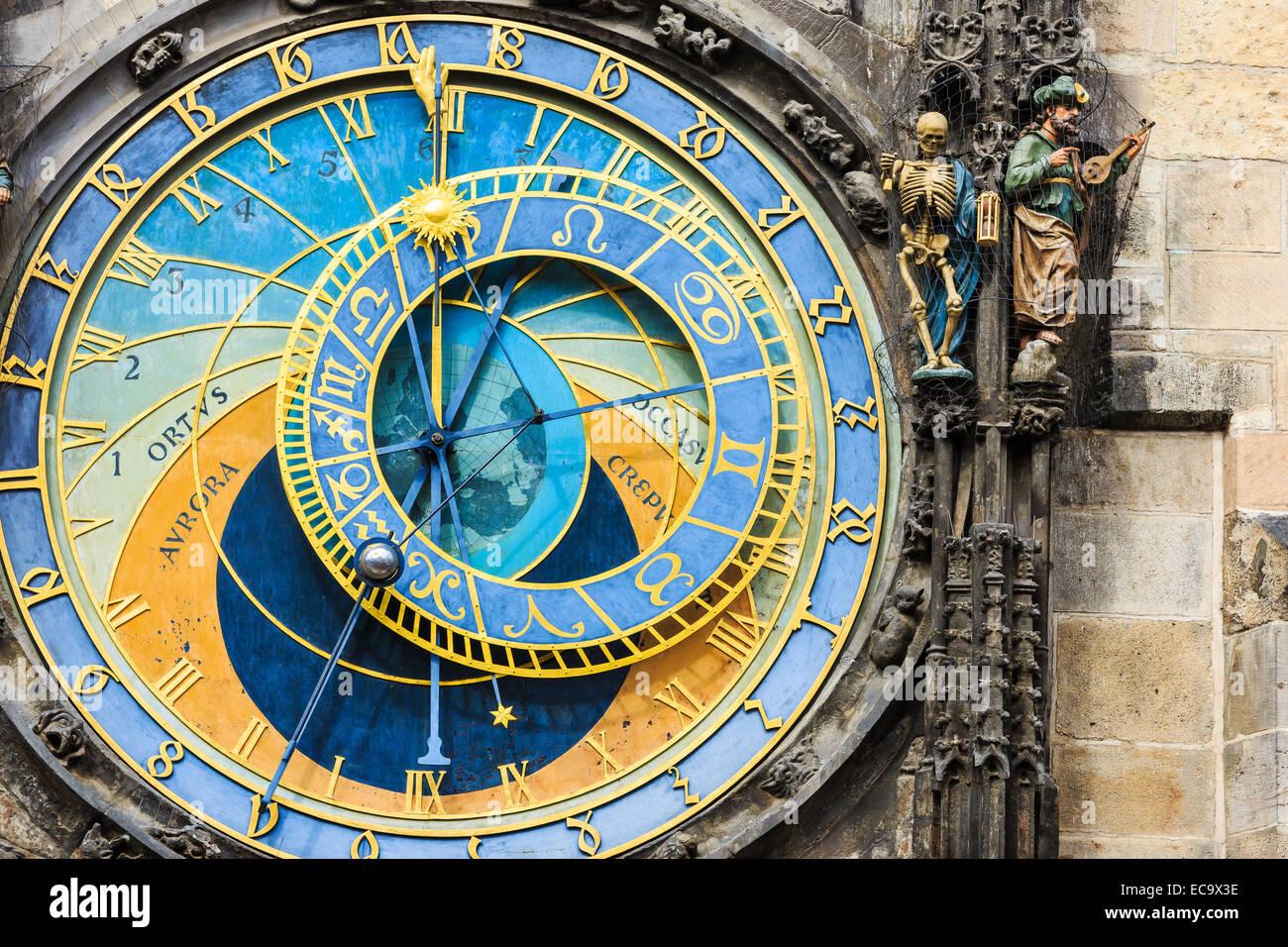 Astronomische Uhr in Prag, Tschechische Republik Stockbild