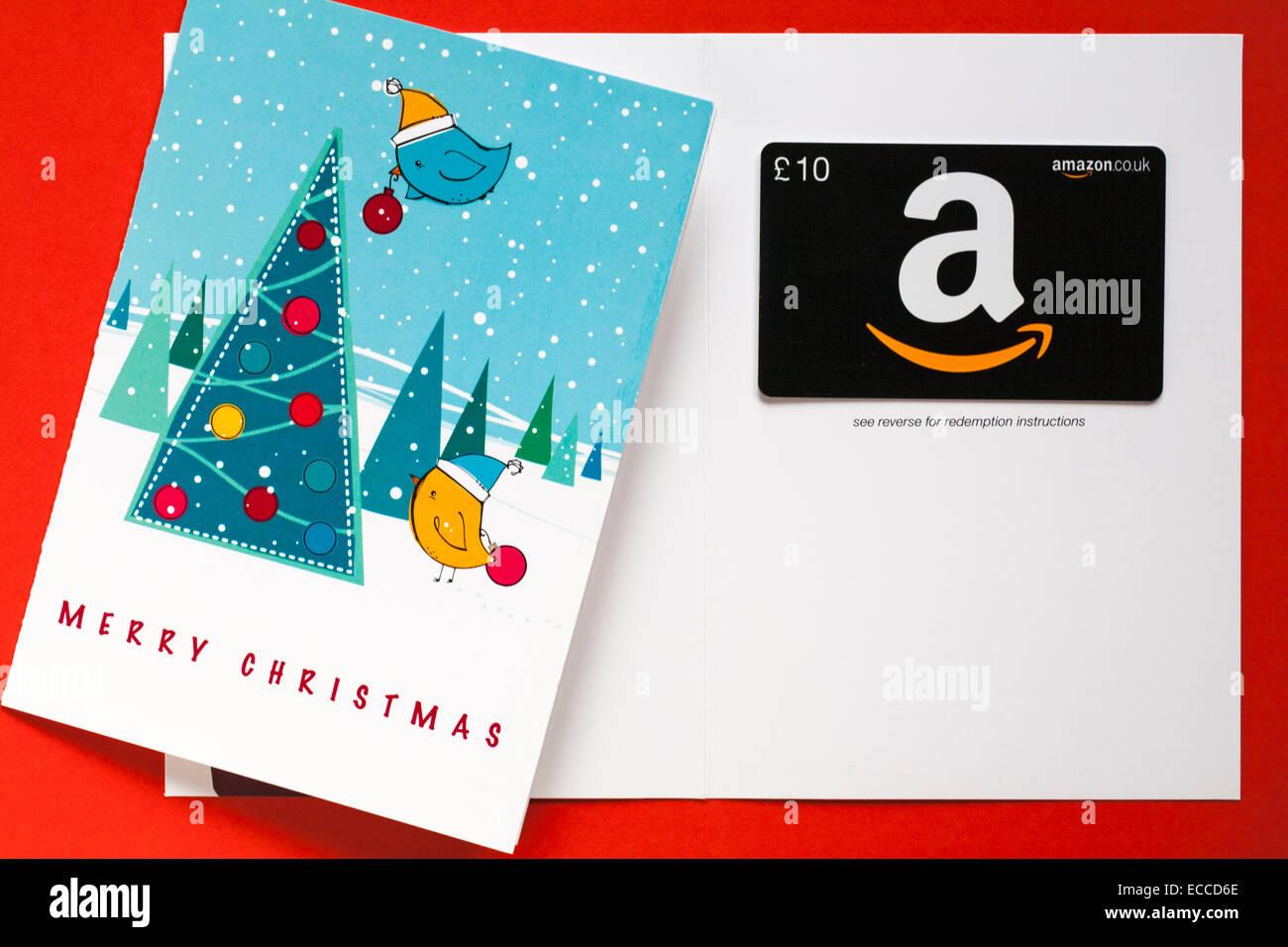 Amazon frohe Weihnachten giftcard mit Vögeln schmücken ...