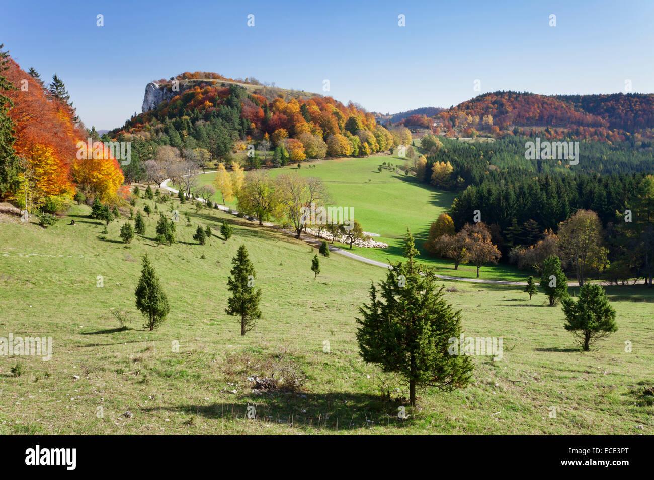 Mt Lochenstein, schwäbischen Alb, Baden-Württemberg, Deutschland Stockbild