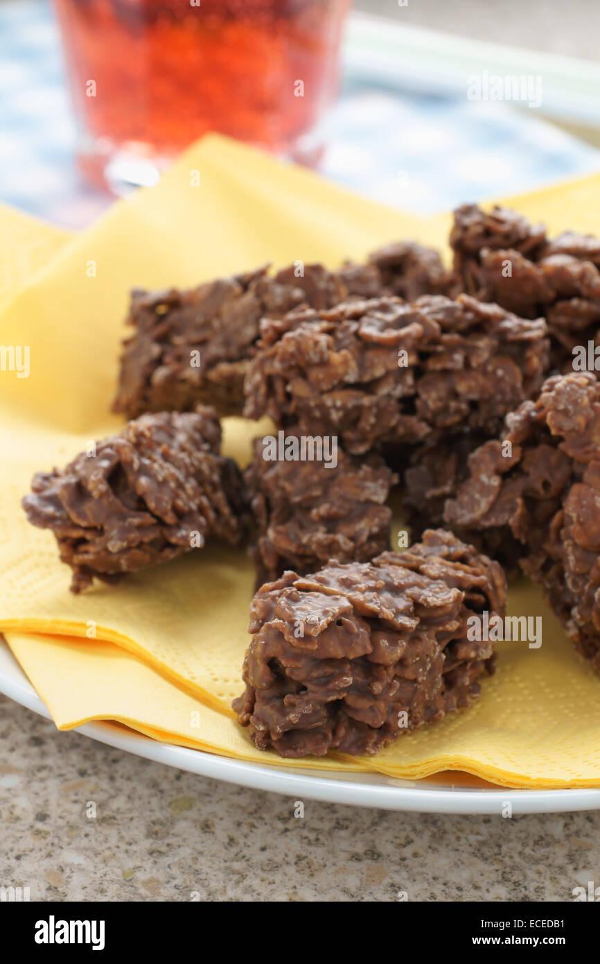 Schokolade Mais Flocken Kuchen Eine Einfache Partei Kuchen Rezept