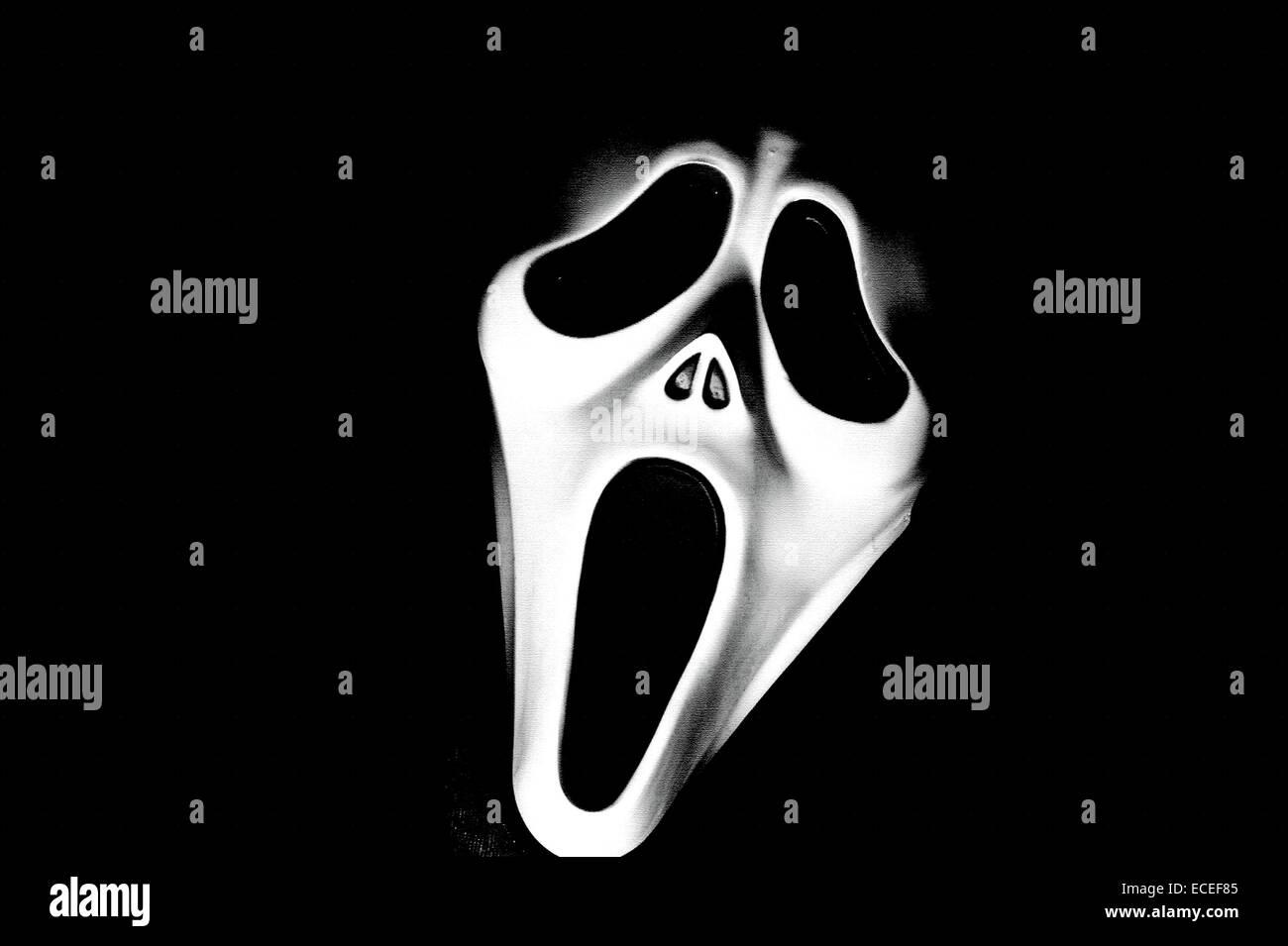 Studio-Arbeit, Faschingsmaske Mit Dem Berühmten Schrei von Edward Munch, Hamburg, Deutschland. Nur zur redaktionellen Stockbild