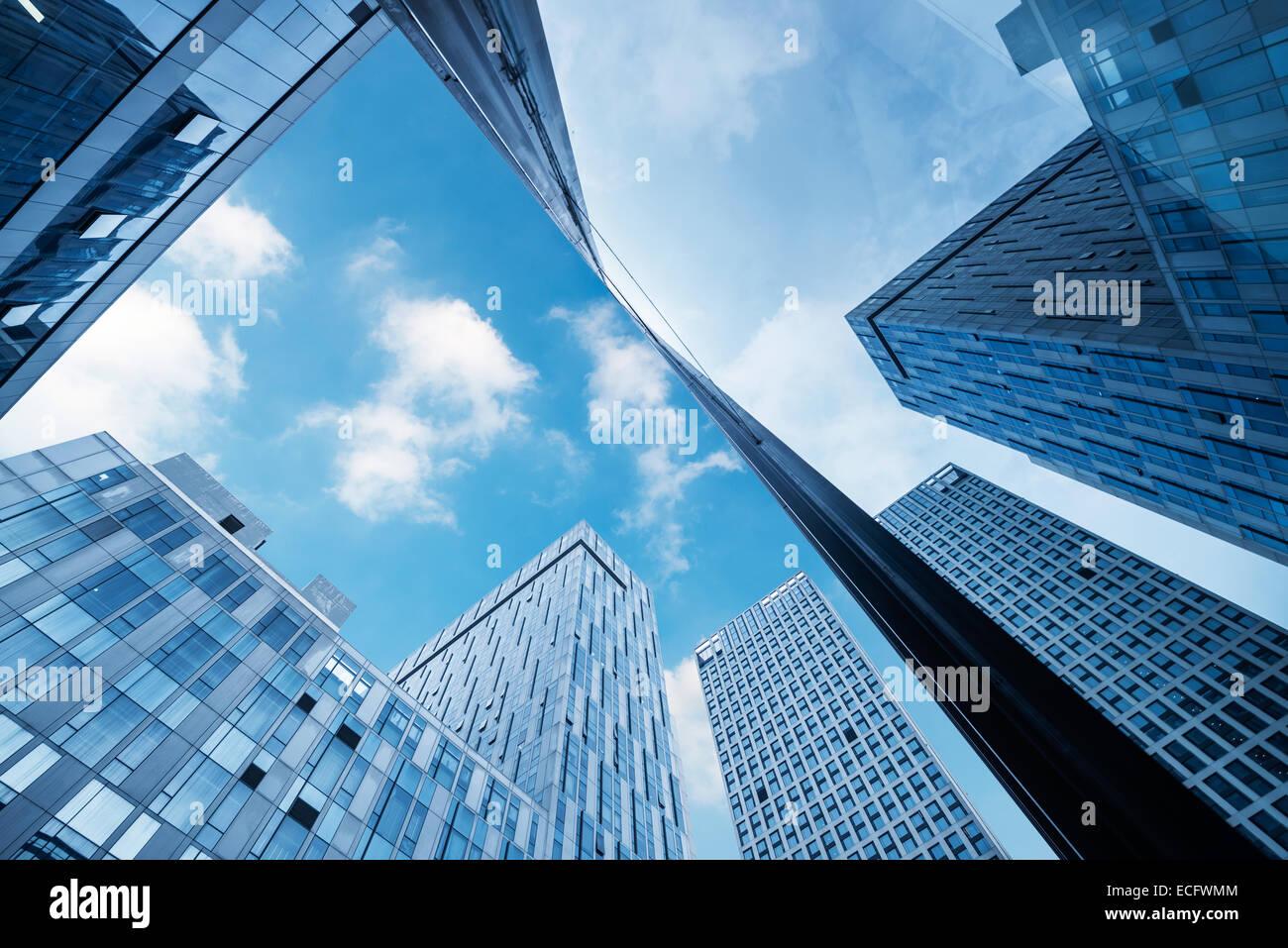 modernes Businesscenter in Hong Kong Stockbild