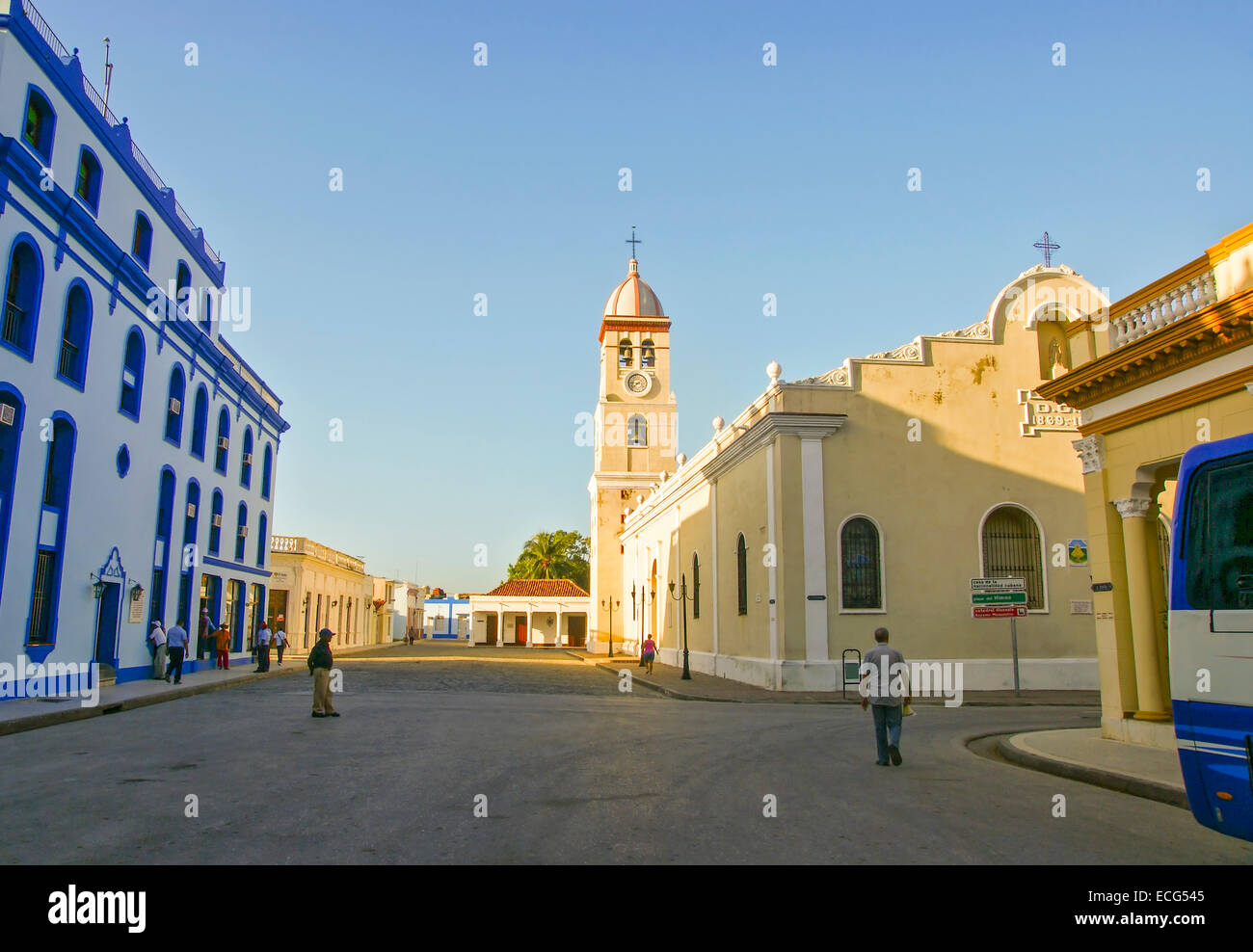 Iglesia del Santísimo Salvador, Bayamo, Kuba, Caribbean Stockbild