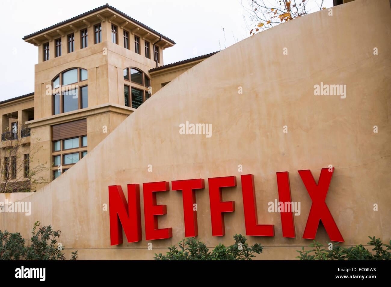 Der Hauptsitz von Netflix. Stockbild