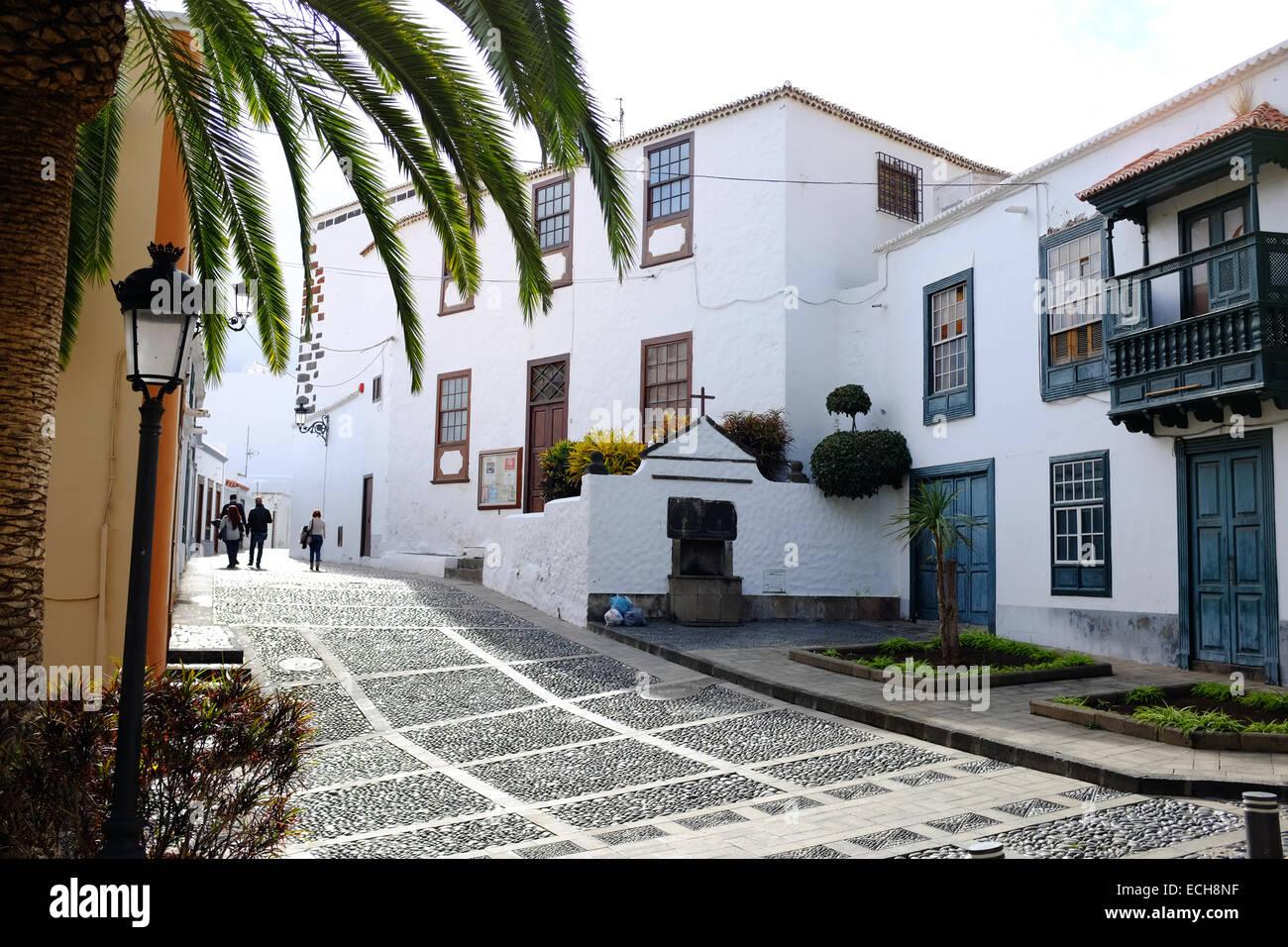 Eine Straße in Santa Cruz De La Palma, La Palma, Kanarische Inseln, Spanien Stockbild