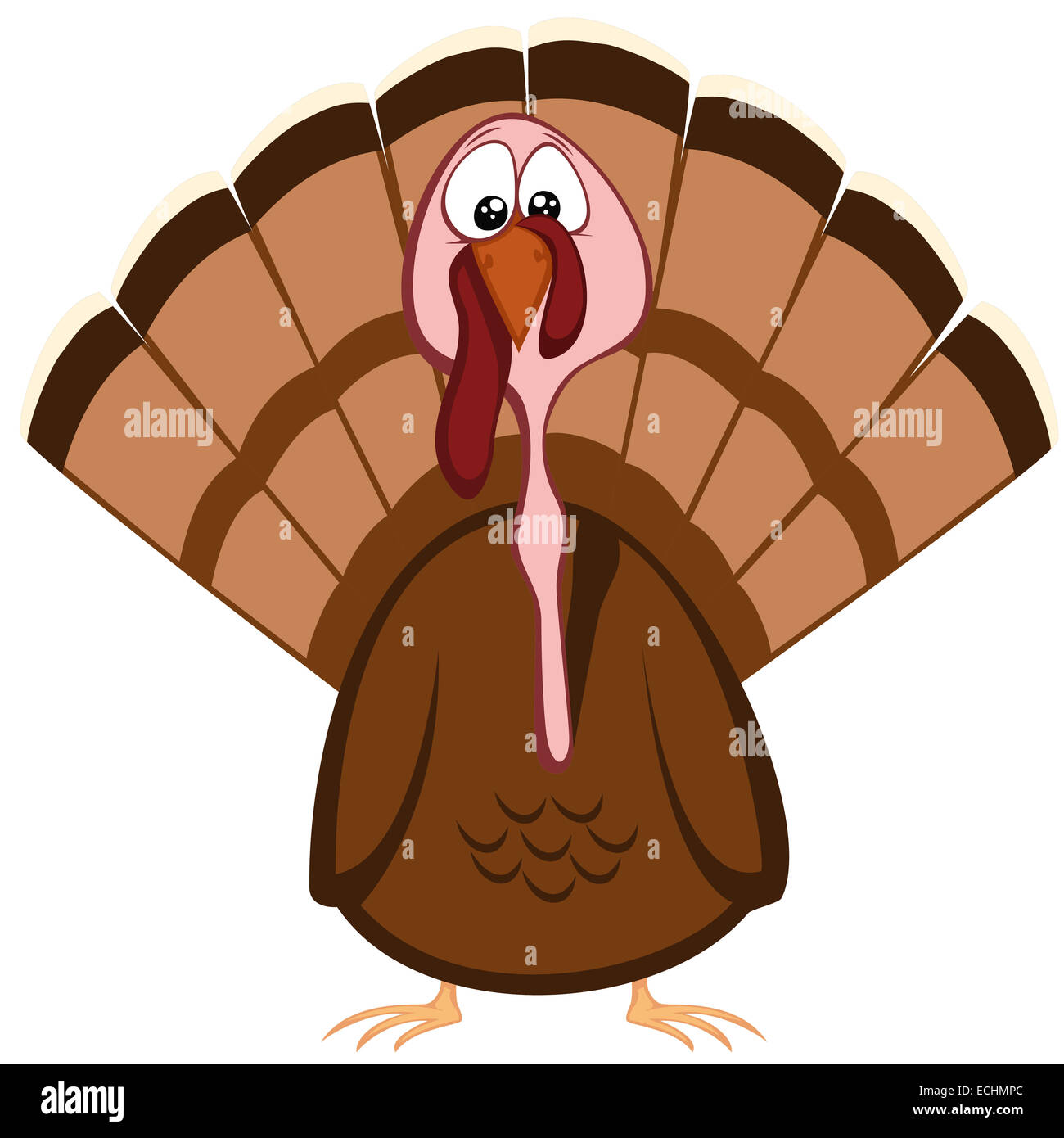 Turkey Character Thanksgiving Icon Stockfotos & Turkey Character ...