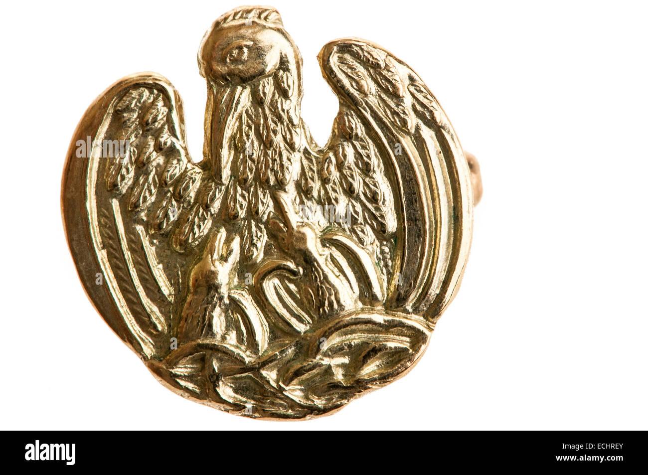 Gold Pelikan-Plakette ausgezeichnet für Menschen, die 50 Einheiten Blut gespendet haben. Stockbild