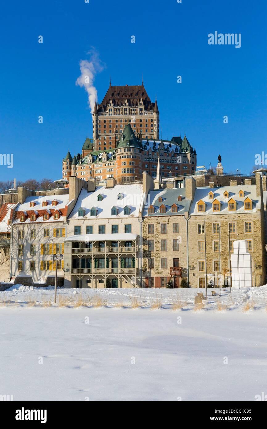 Kanada, Québec, Québec (Stadt) im Winter, von alten Québec erklärte ein Weltkulturerbe der UNESCO, Stockbild