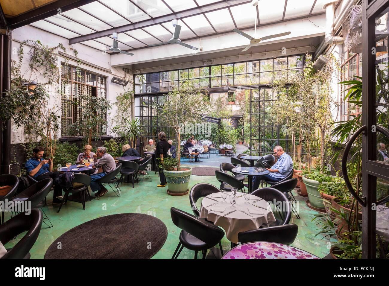 italien lombardei mailand 10 corso como cafe restaurant hotel corso como stockfoto bild. Black Bedroom Furniture Sets. Home Design Ideas