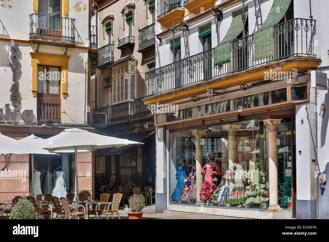 Spanien, Andalusien, Sevilla, El Salvador-Platz, Terrasse des cafΘ ...