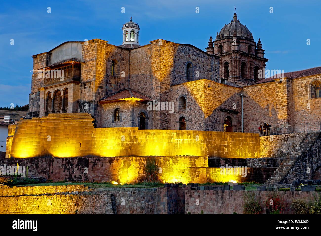 Coricancha, Convento de Santo Domingo del Cuzco, Cusco, Peru Stockbild
