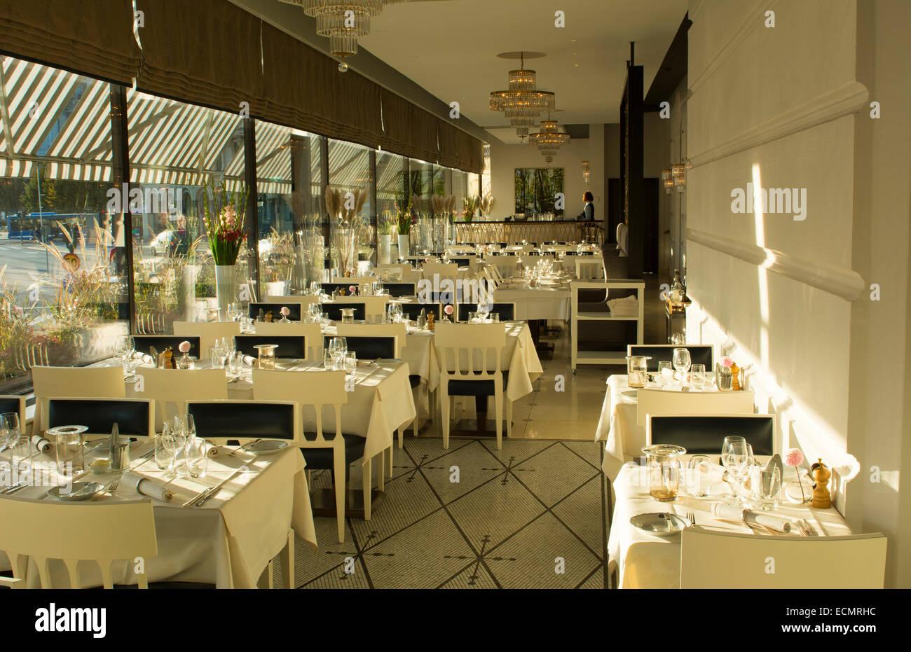 Stockholm Schweden Grand Hotel Verandan Restaurant Luxus Hotel Cafe
