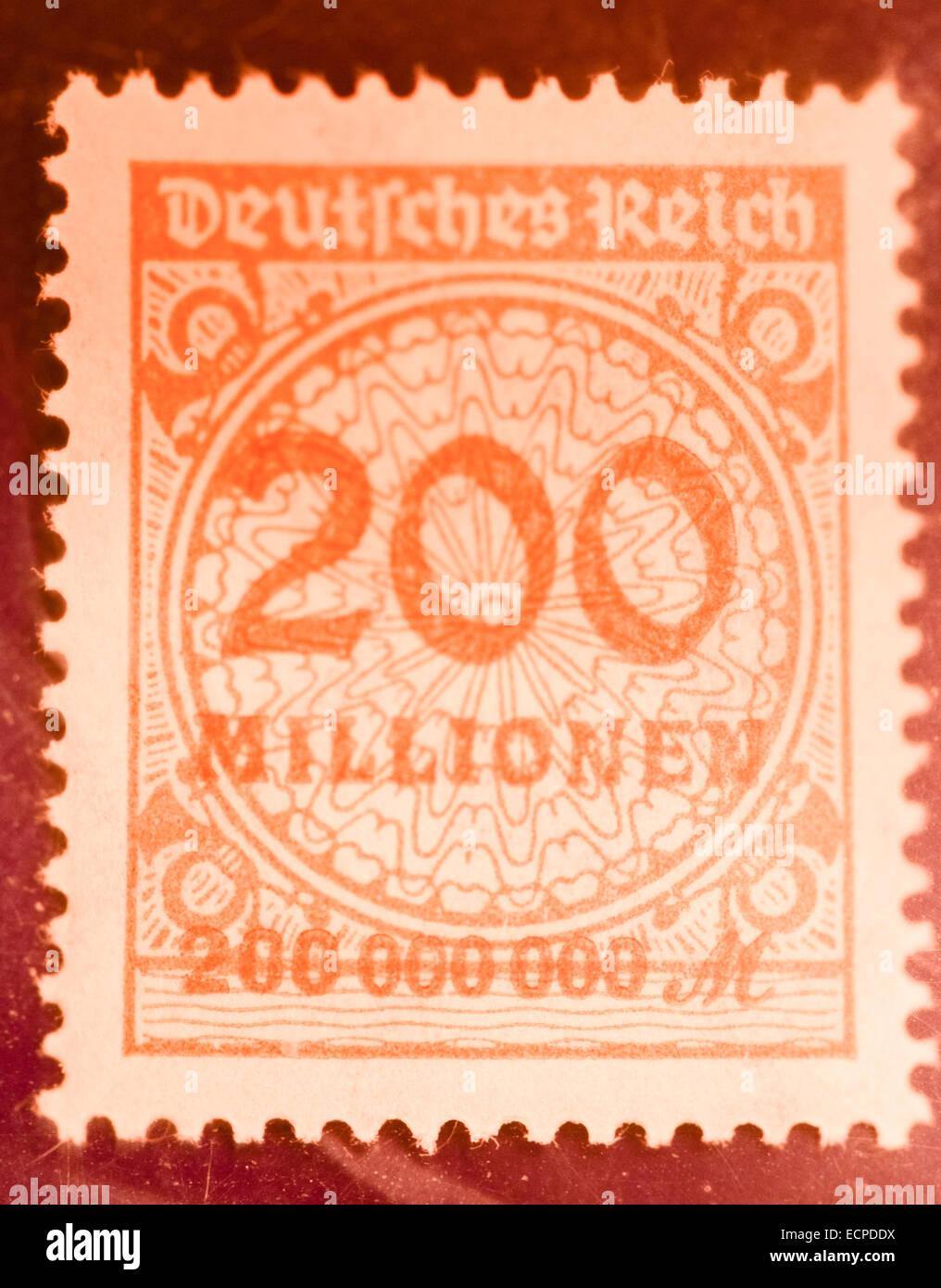 Alte Deutsche Inflation Briefmarken Stockfoto Bild 76710870 Alamy