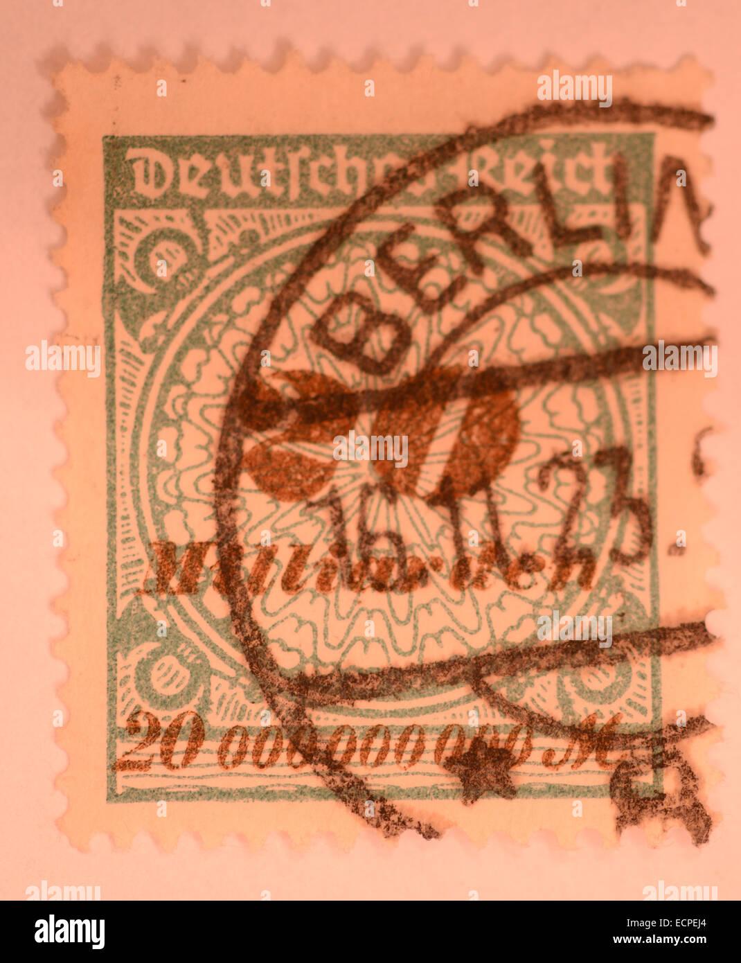 Alte Deutsche Inflation Briefmarken Stockfoto Bild 76711772 Alamy