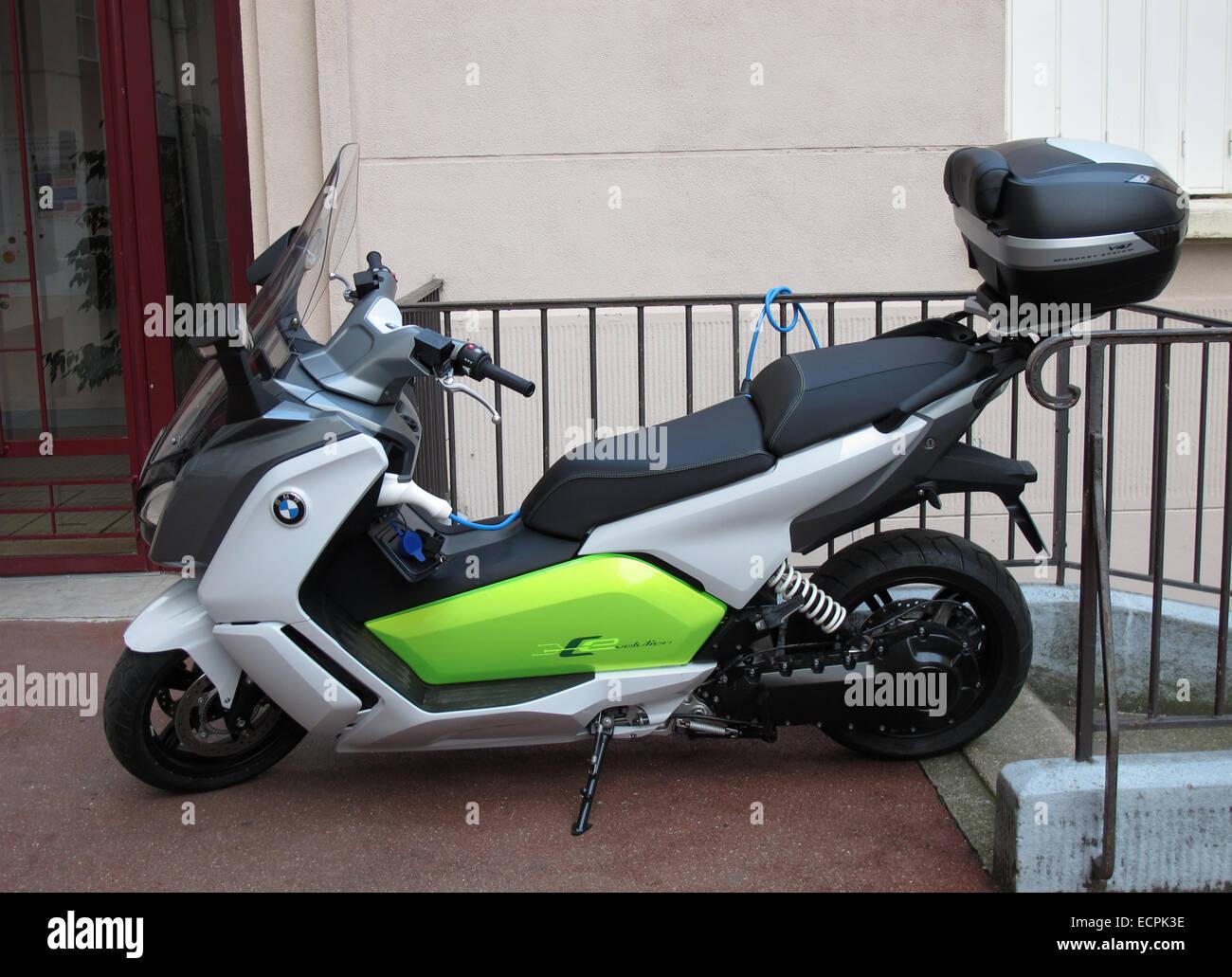 electric bike france stockfotos electric bike france. Black Bedroom Furniture Sets. Home Design Ideas