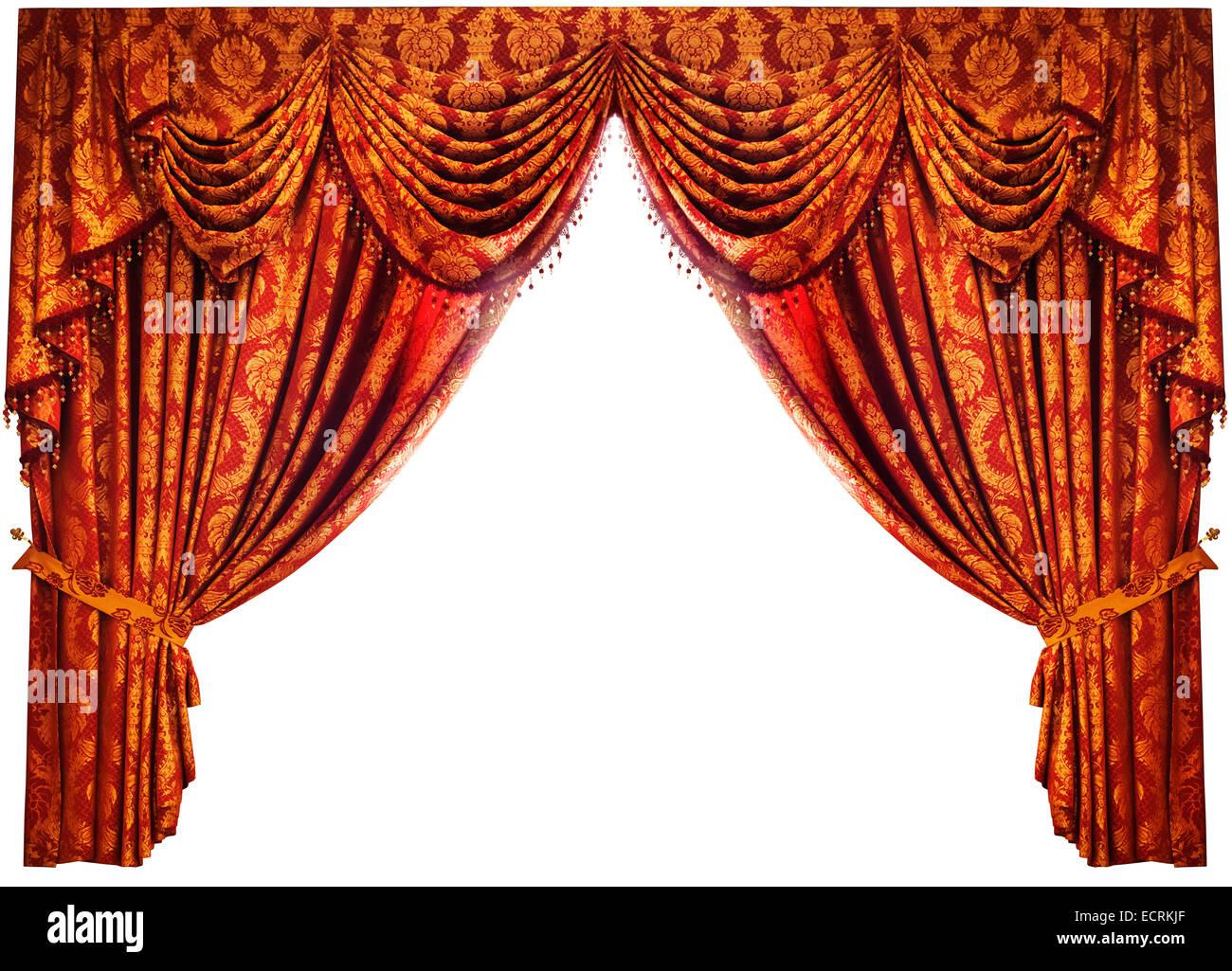 Drape Red Curtains Stockfotos & Drape Red Curtains Bilder   Alamy