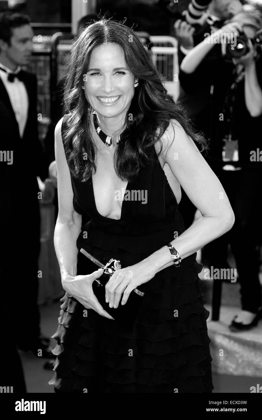 """CANNES, Frankreich - 26.Mai: Schauspielerin Andie MacDowell besucht die """"Mud"""" Premiere während der 65. Filmfestspiele von Cannes am 26. Mai 2012 Stockfoto"""
