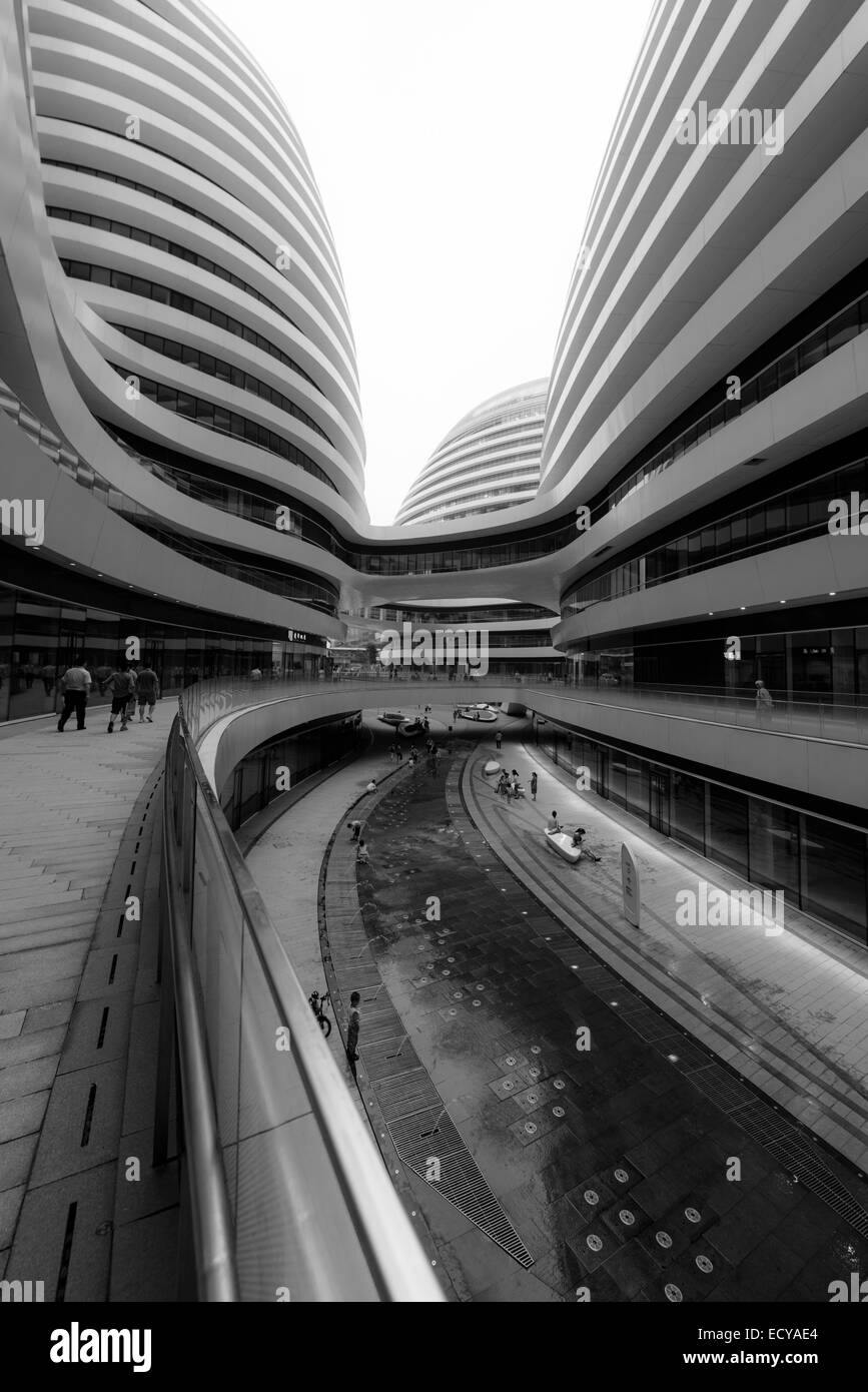 Moderne Architektur in Peking, China Stockfoto