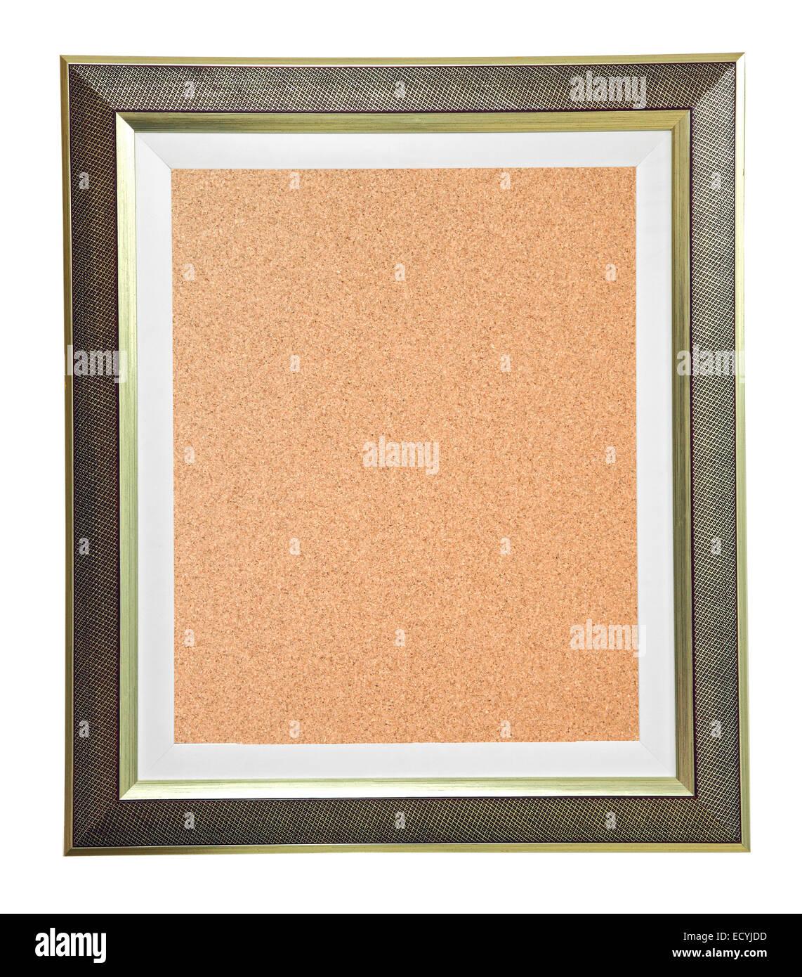 isolierte Kork Pinnwand mit modernen Rahmen Stockfoto, Bild ...