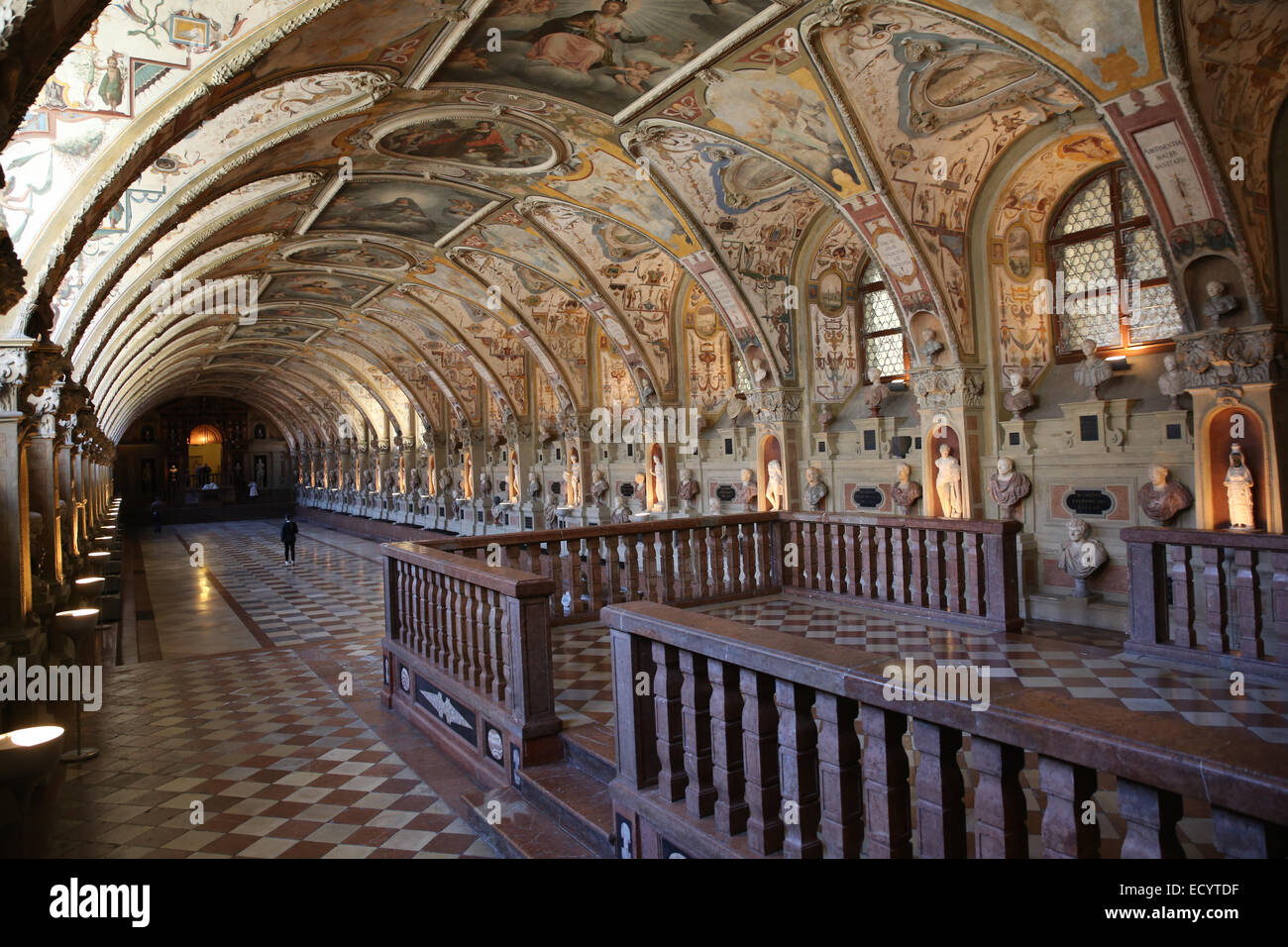 Münchner Residenz Antiquarium Renaissance Interieur Stockbild