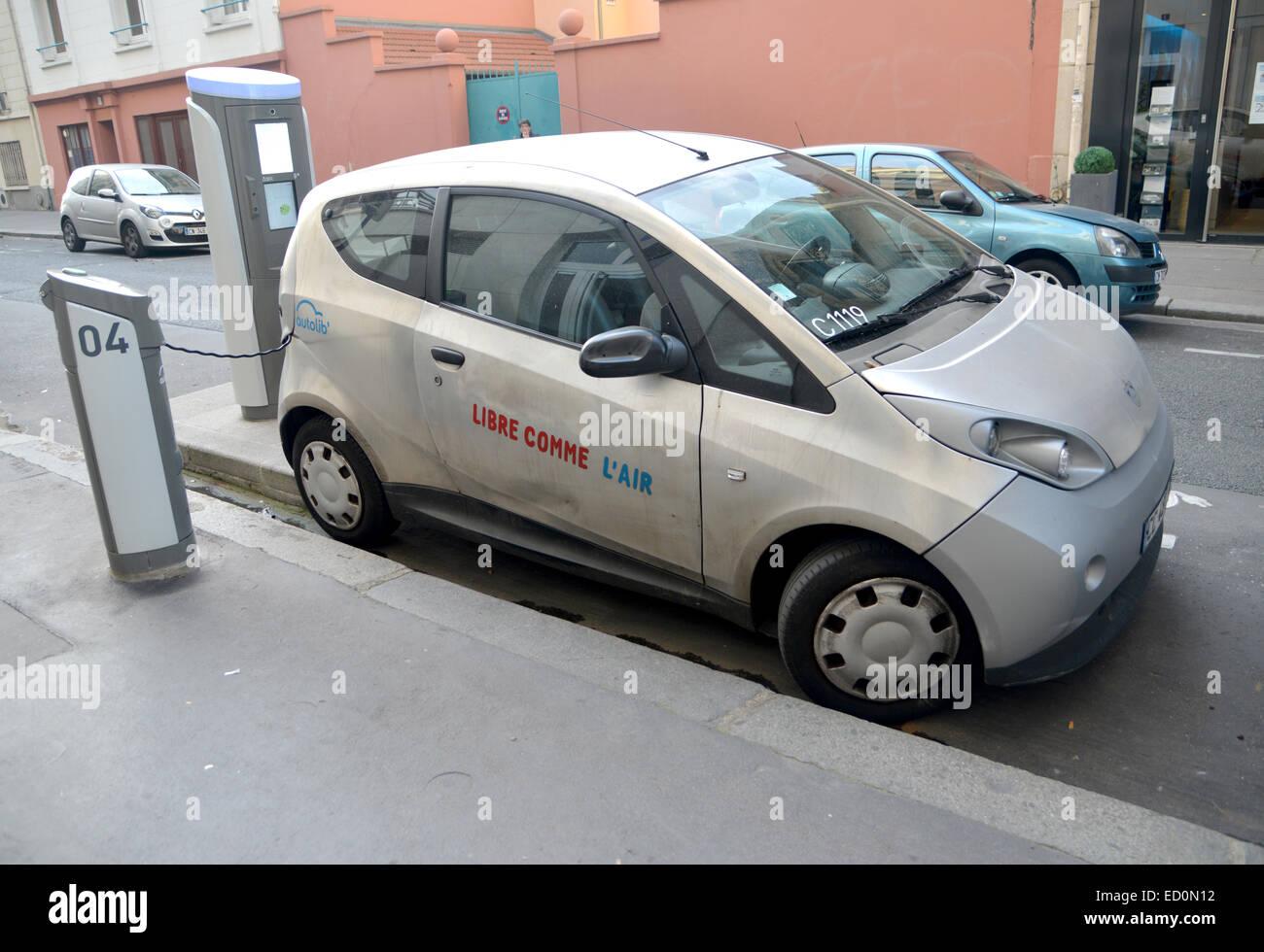 AutoLib\' Libre Air Paris Elektroauto Anteil Schema Stockfoto, Bild ...
