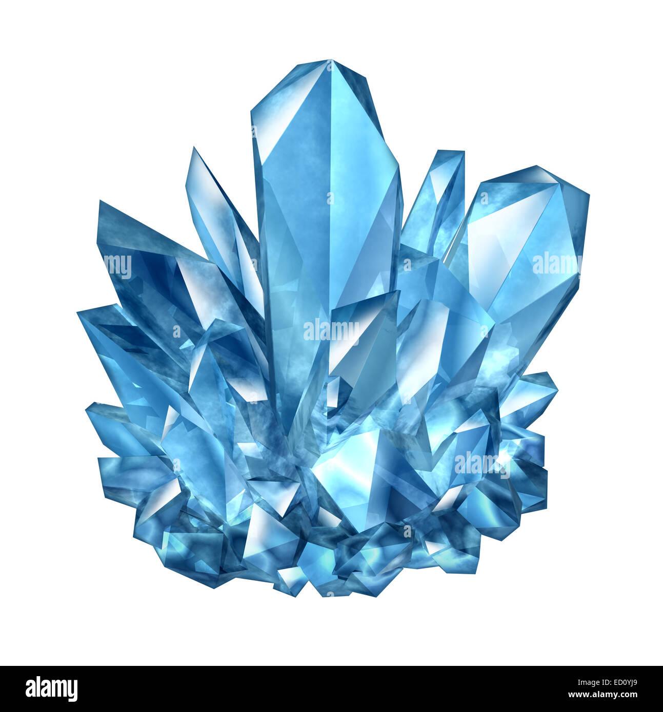 Kristall Edelstein Objekt als Amethyst mineralischen Naturjuwel als eine drei dimensionale Darstellung auf einem Stockbild