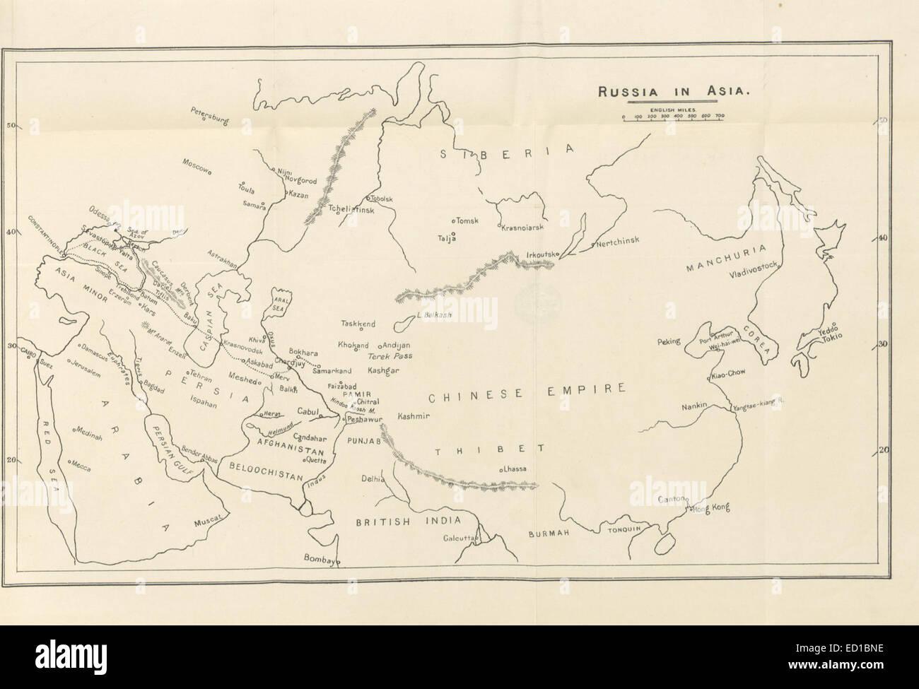 Karte Russland Asien.Pg253 Karte Russland In Asien Stockfoto Bild 76863178 Alamy