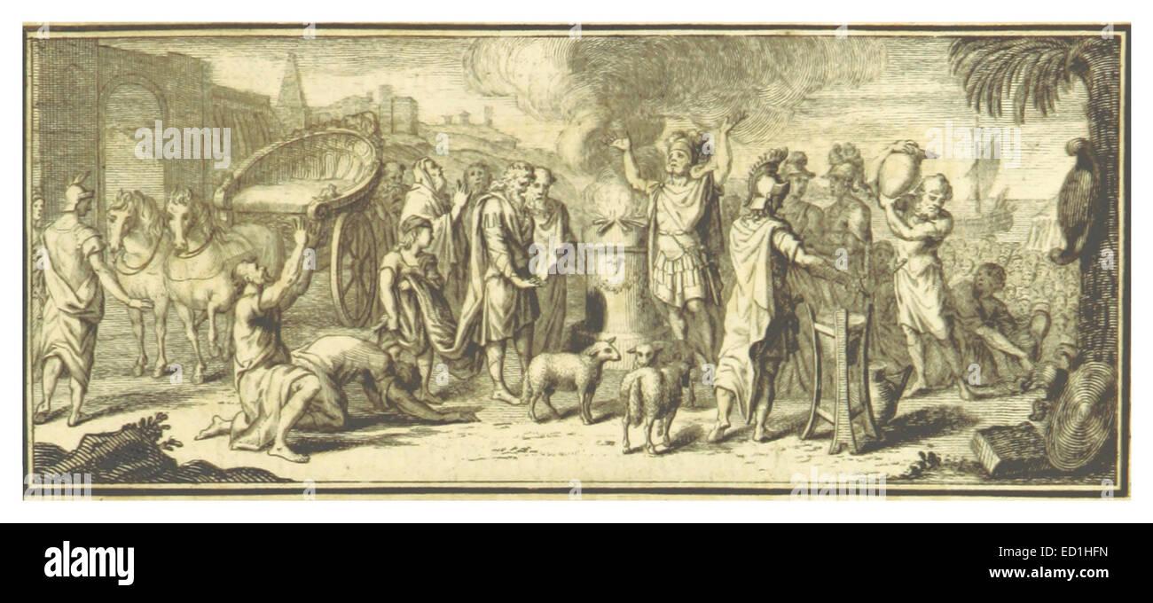 DIE ILLIAD von HOMER (übersetzt von Papst) p1.323 3d Buch Seite 189 Stockbild