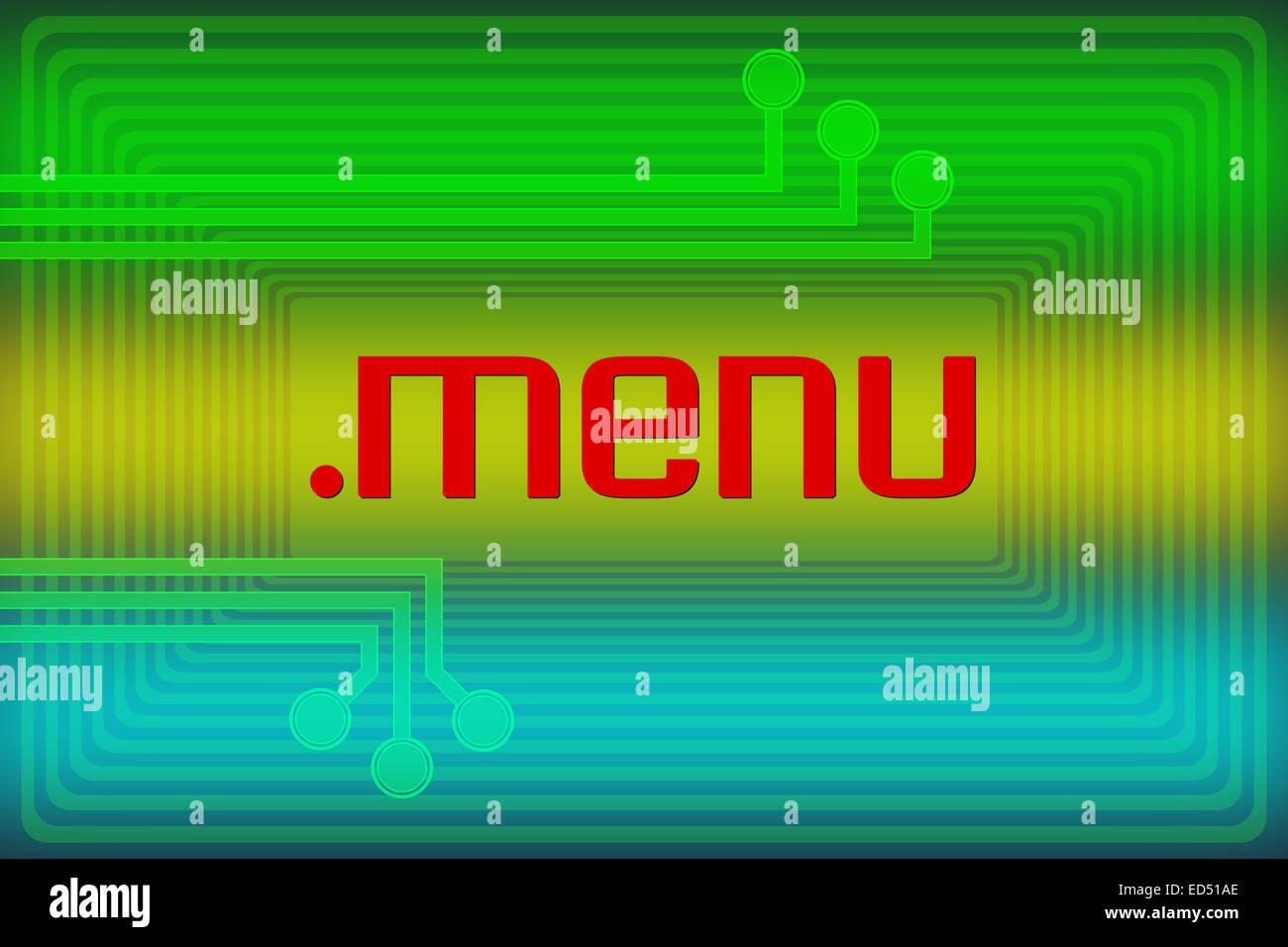 Darstellung der Internet-Adresse-Dot-Menü-Domain-Namen Stockbild