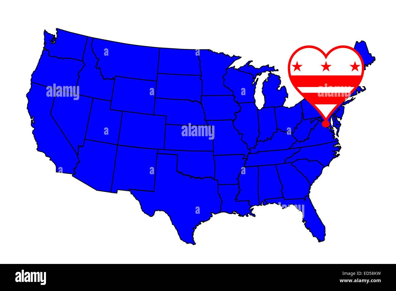 Dc State Map Stockfotos & Dc State Map Bilder - Alamy