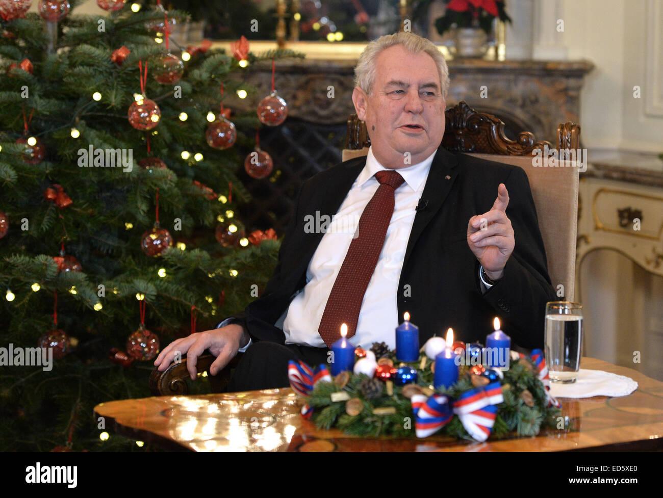 Tschechische Präsident Milos Zeman bereitet seiner ...