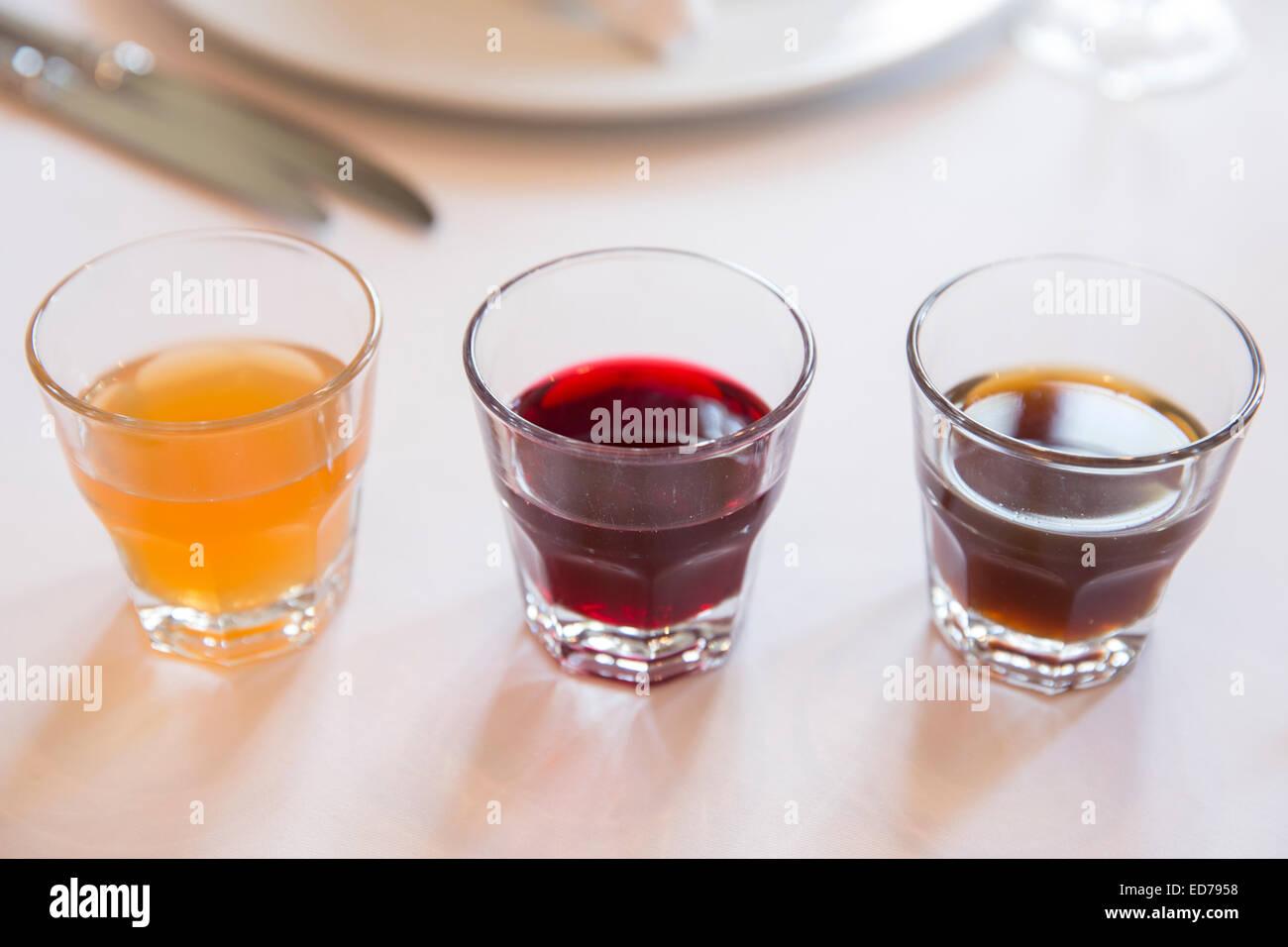 Türkische traditionelle Sorbet Getränke, Restaurant Asitane in Chora ...