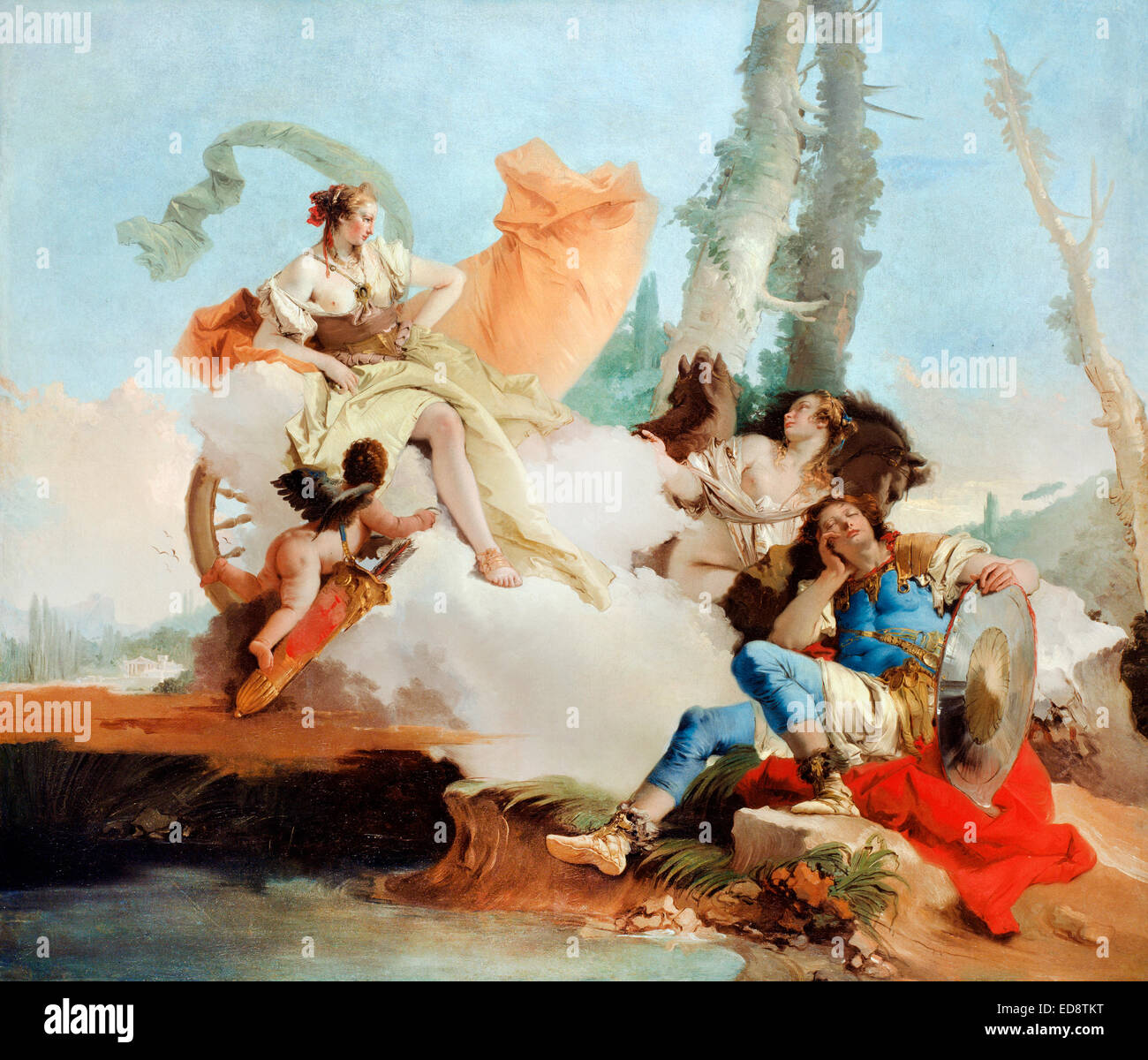 Giovanni Battista Tiepolo, Rinaldo verzaubert von 1742 bis 1745 Armida Öl auf Leinwand. Art Institute of Chicago, Stockbild