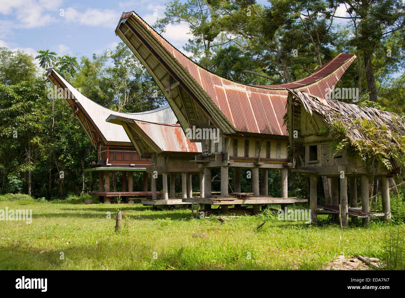 Ke'te Kesu Dorf in Sulawesi Stockbild