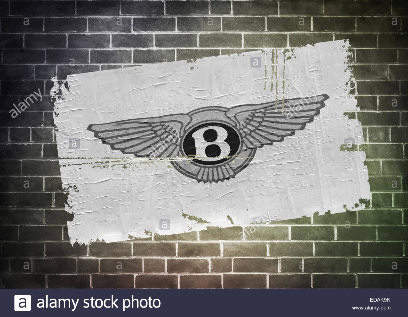 Bentley-Logo Symbol Plakat Stockbild