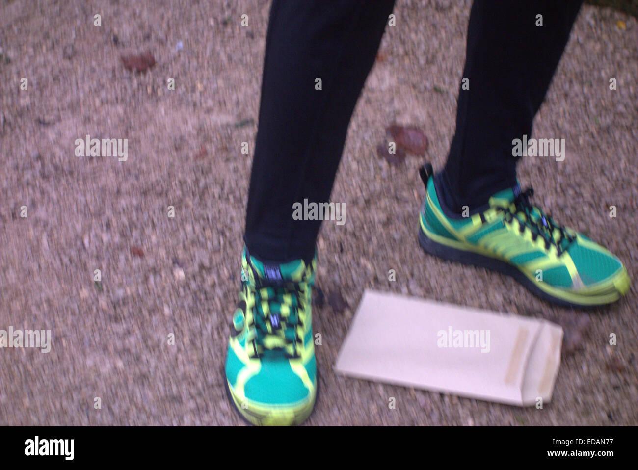 Alamy Cliveden an einem nebligen & frostigen Januar Morgen statt der Burnham Jogger ihre jährliche 10k laufen, nicht Stockfoto