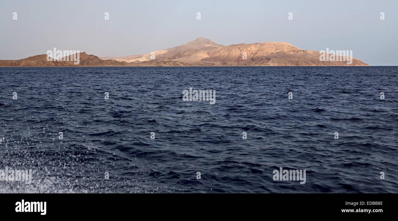Die Insel Tiran. Stockbild