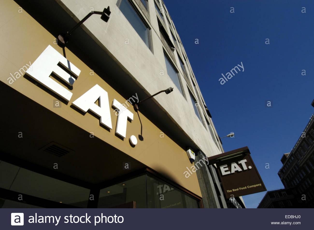 Externen Schuss von einem Essen. Restaurant im Zentrum von London. Stockbild