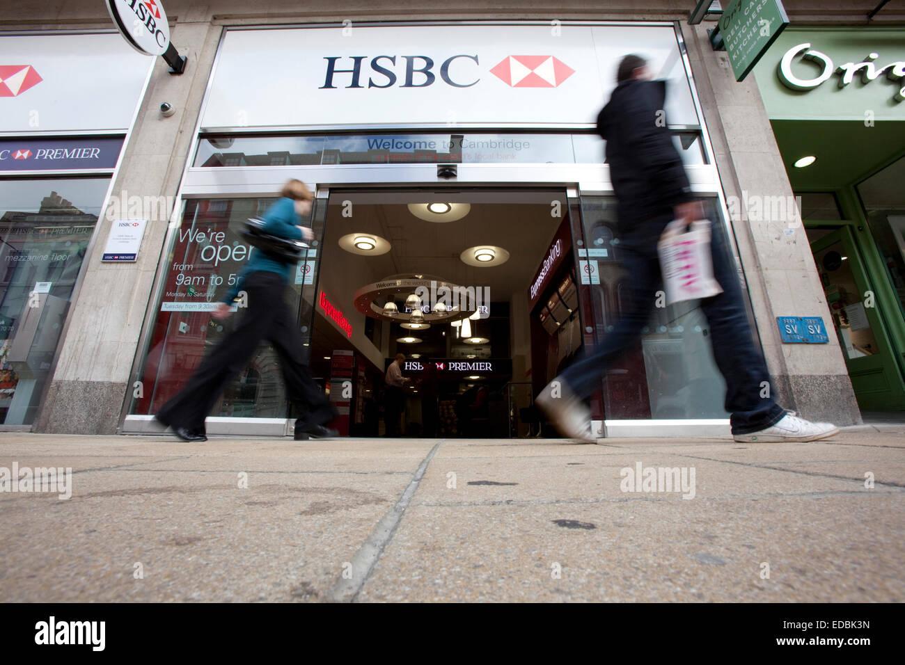 Außenaufnahme einer HSBC Filiale. Stockbild