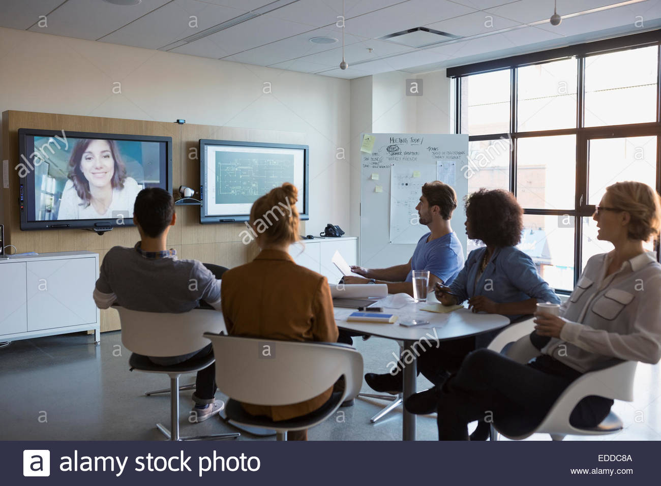 Geschäft Leute Videokonferenzen Stockbild