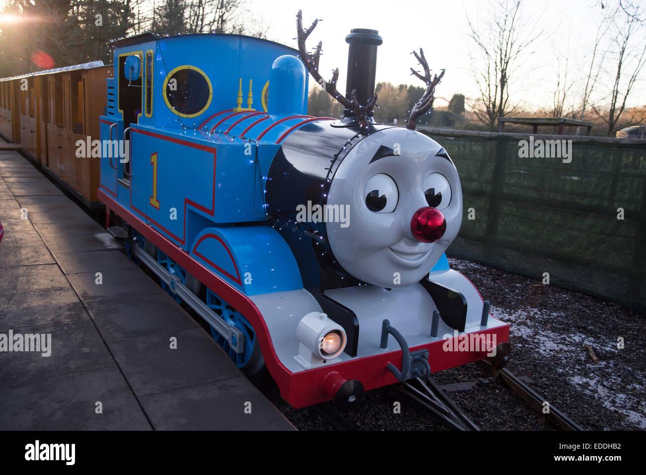 Thomas Tank Motor bei Thomas Land, Drayton Manor. Weihnachtsschmuck ...
