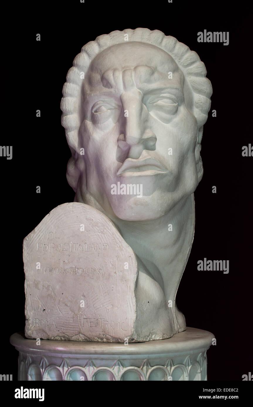 Sergio dal cattivo sguardo - Sergio von der Evil Eye 1911 kroatischen Bildhauers Ivan Me?trovi? Kroatien Stockbild