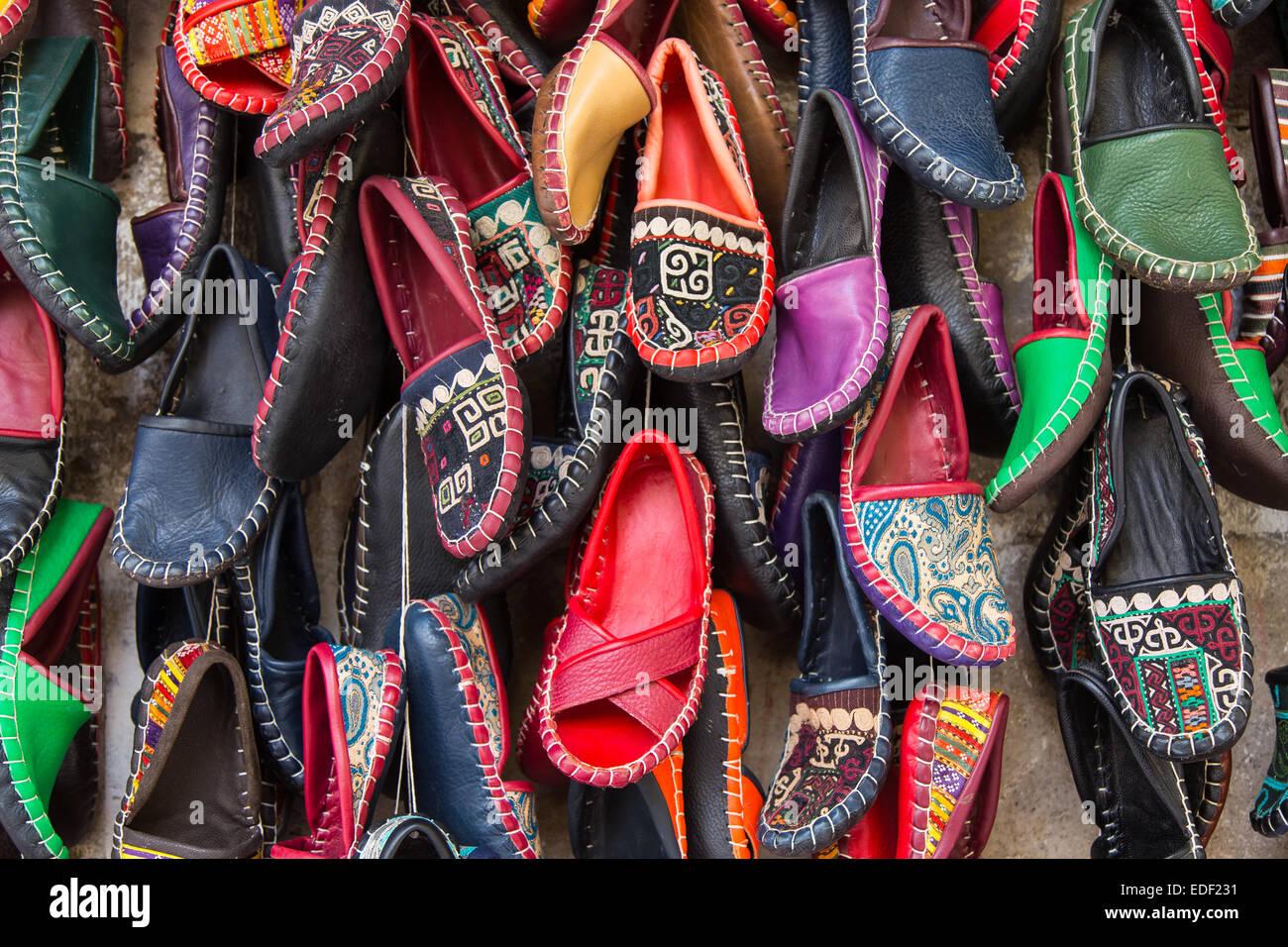 a0192c7a7ad42c Traditionelle türkische Schuhe Istanbul Stadt Türkei Stockbild