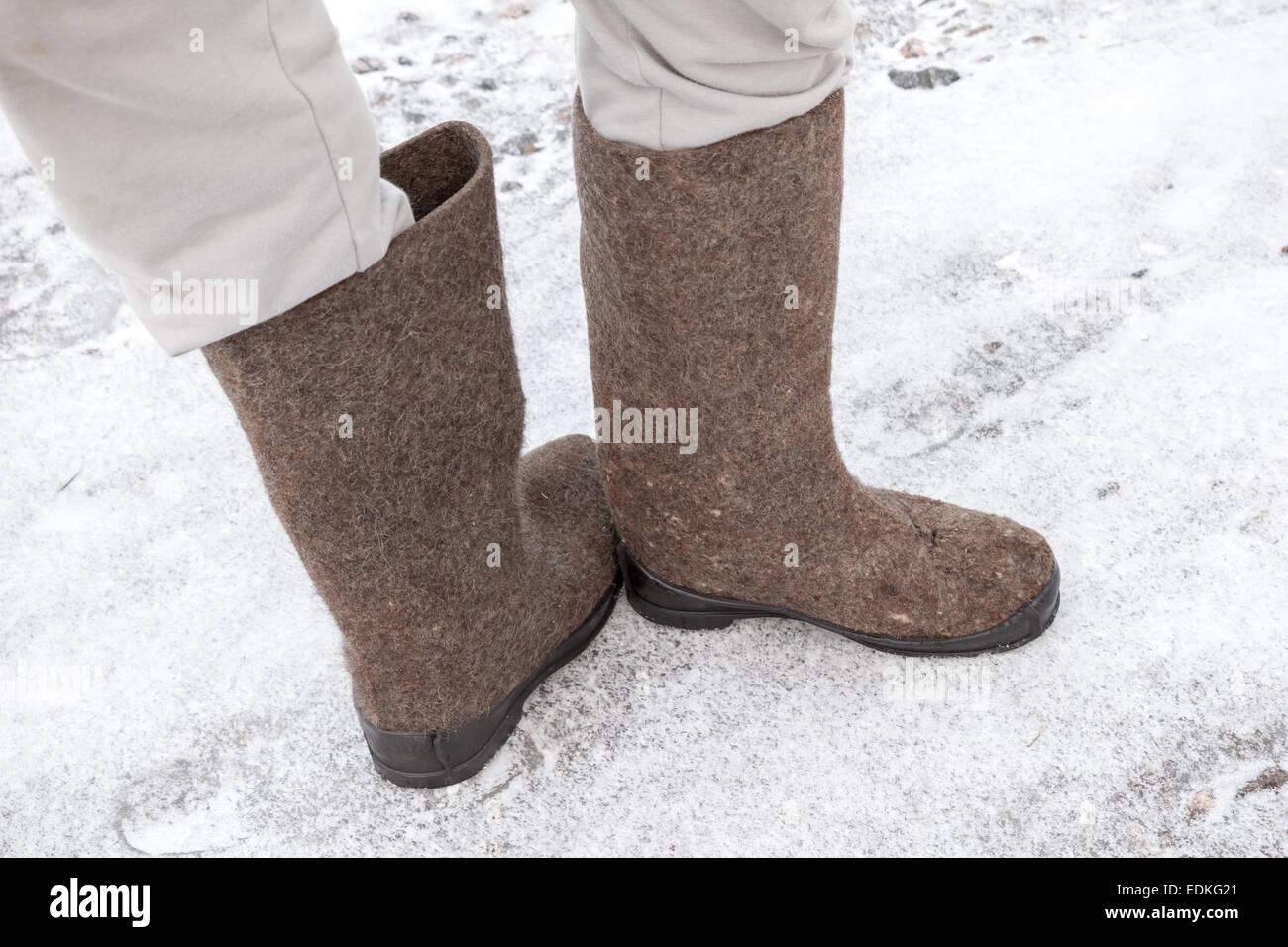 Füße Grau Männliche Filz Russischen Mit Stiefel Winter QCdhrxtsB