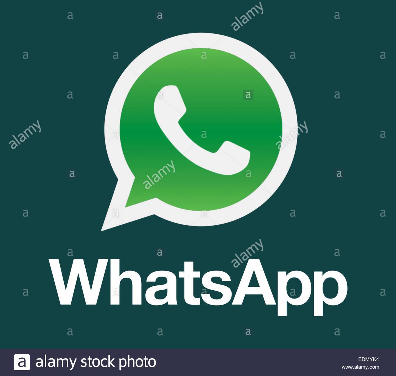 WhatsApp Logo Symbol Zeichen Stockfoto, Bild: 26 - Alamy