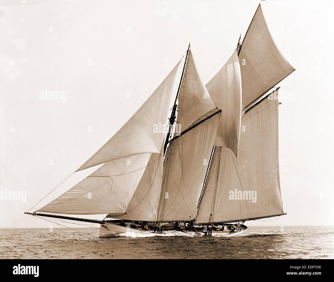 Mayflower, Mayflower (Schoner), Yachten, 1891 Stockbild